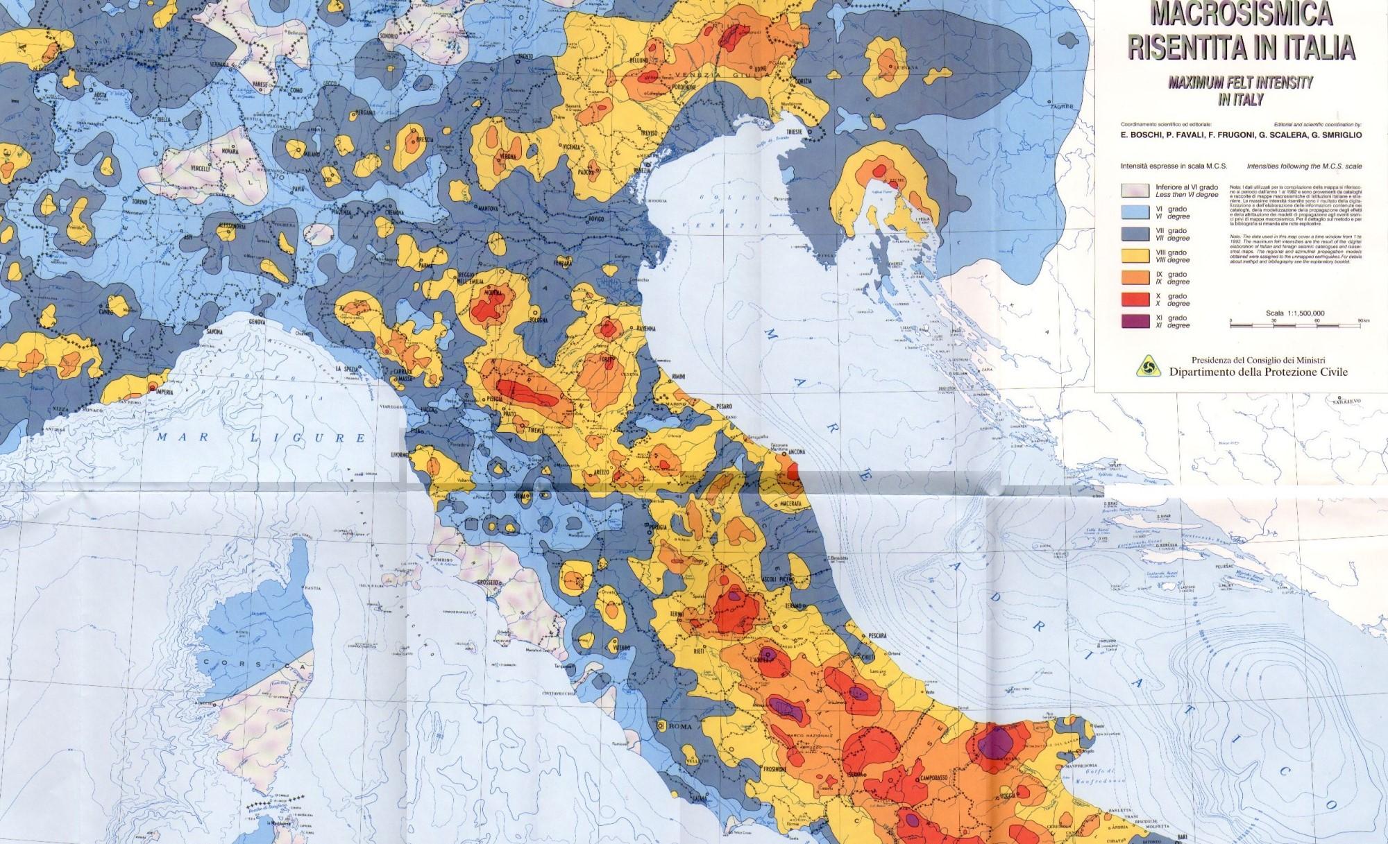 Italian Seismic Map